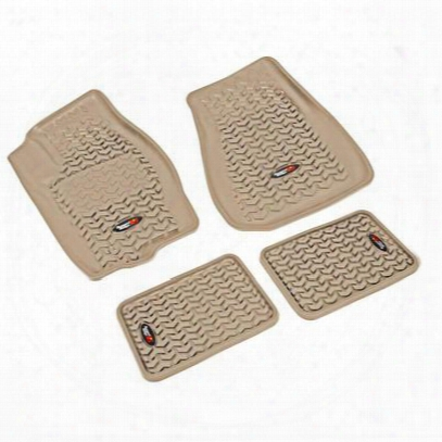 Rugged Ridge All Terrain Floor Liner Kit (tan) - 13987.23