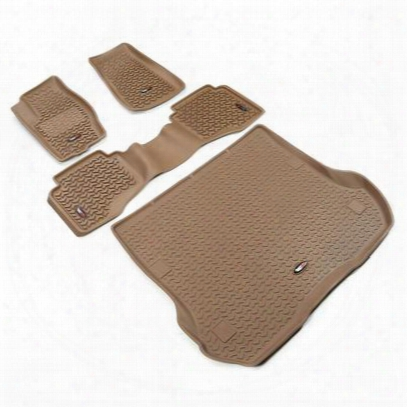 Rugged Ridge All Terrain Floor Liner Kit (tan) - 13988.33