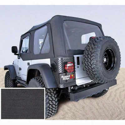 Rugged Ridge Xhd Replacement Soft Top With Clear Windows (black Denim) - 13725.15