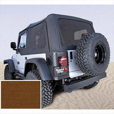 Rugged Ridge Xhd Replacement Soft Top With Tinted Windows (dark Tan) - 13724.33