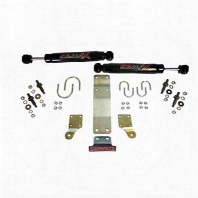 Skyjacker Heavy-duty Black Max Dual Steering Stabilizer Kit (black) - 8206