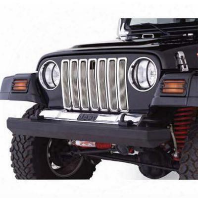 Smittybilt Billet Aluminum Grile Inserts For Jeep Tj & Lj Wrangler (chrome) - 75511