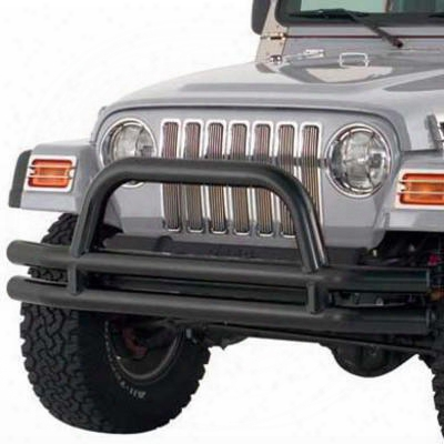 Smittybilt Tubular Jeep Front Bumper (black) - Jb44-fn