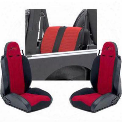 Smittybilt Xrc Seat Package (black/ Red) - Xrcseat1r