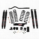Skyjacker 4 Inch Softride Lift Kit with Black MAX Shocks - JK40BPBSR