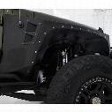 Smittybilt XRC Front Fender Armor (Black) - 76880