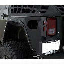 Smittybilt XRC Full Rear Corner Armor (Black) - 76882
