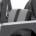 Smittybilt XRC Rear Black/Gray Seat Cover Fabric/ Vinyl 758211