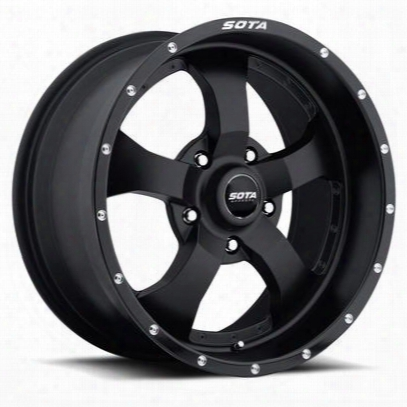Sota Offroad Novakane, 17x9 Wheel With 5 On 5 Bolt Pattern - Stealth Black - 561sb-17955-12