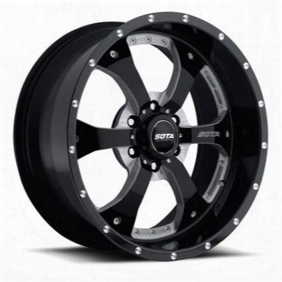 Sota Offroad Novakane, 22x10.5 Wheel With 6 On 135 Bolt Pattern - Death Metal Black - 561dm-22163-25