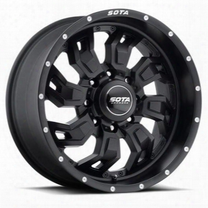 Sota Offroad S.c.a.r., 20x10 Wheel With 8 On 180 Bolt Pattern - Stealth Black - 566sb-21088-19