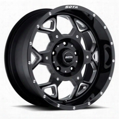 Sota Offroad S.k.u.l., 20x10 Wheel With 5 On 150 Bolt Pattern - Death Metal Black - 560dm-21057-19
