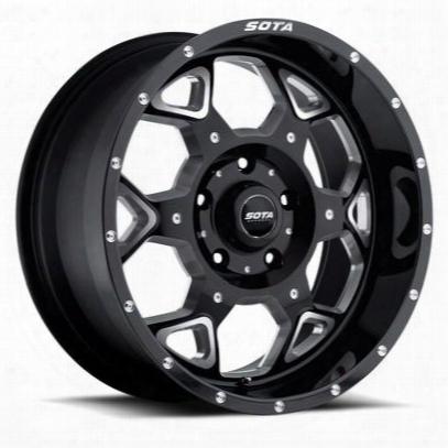 Sota Offroad S.k.u.l., 20x10 Wheel With 5 On 150 Bolt Pattern - Death Metal Black - 560dm-21057-19