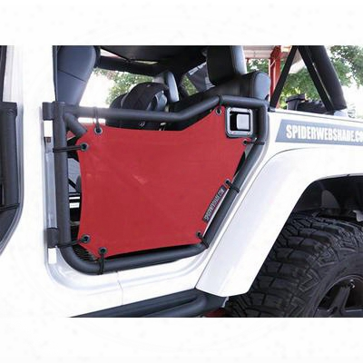 Spiderwebshade Rear Shadeskins - Skn-rgjk-bck-red