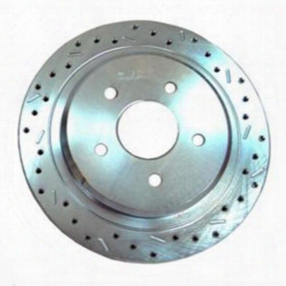 Stainless Steel Brakes Big Bite Cross Drilled Rotors - 23828aa3r