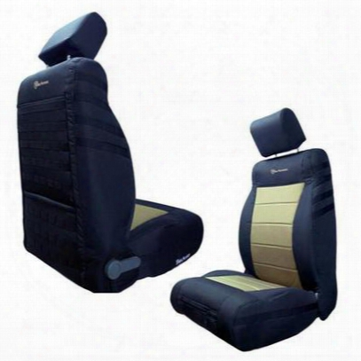 Bartact Front Seat Cover (black/khaki) - Tjsc0306fpbk