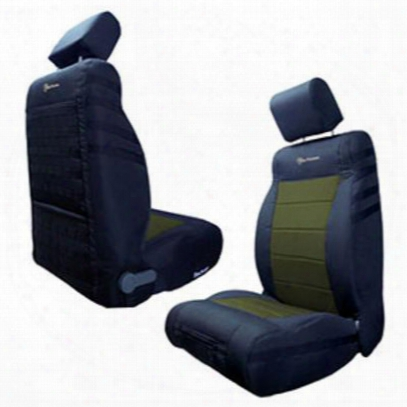 Bartact Front Seat Cover (black/olive) - Tjsc9702fpbo