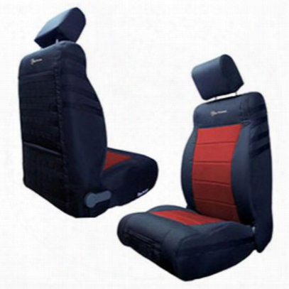 Bartact Front Seat Cover (black/red) - Tjsc0306fpbr