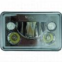 Vision X Lighting Vortex 4X6 LED Headlight (Black Chrome) - 9897837
