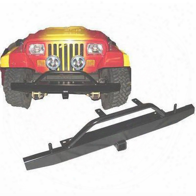 Tomken Machine Front Bumper With 2 Inch Receiver And Brush Guard (black) - Tmf-6235-b