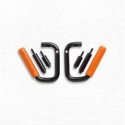 Welcome Distributing Front Grabars With Orange Grips - 1001o