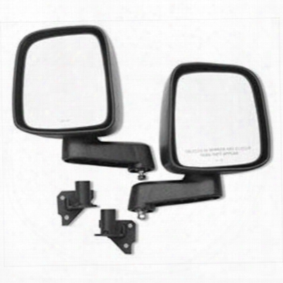 Warrior Adventure Door Mirror And Mount Kit (black) - 1519