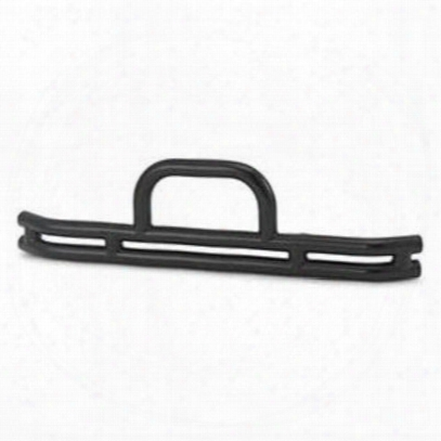 Warrior Front Double Tube Bumper With Hoop (black) - 53010