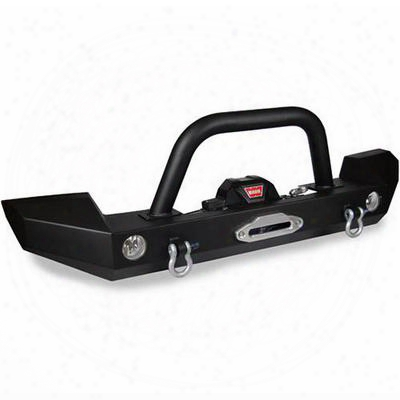 Warrior Mid-width Front Bumper With 3 Inch Brush Guard (black) - 59830