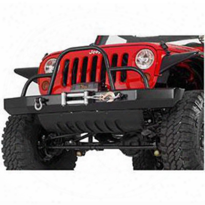 Warrior Rock Crawler Front Bumper With Winch Mount (black)  -595