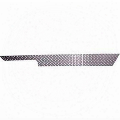 Warrior Sideplates With Lip Under Body Tub (black Diamond Plate) - 909upc