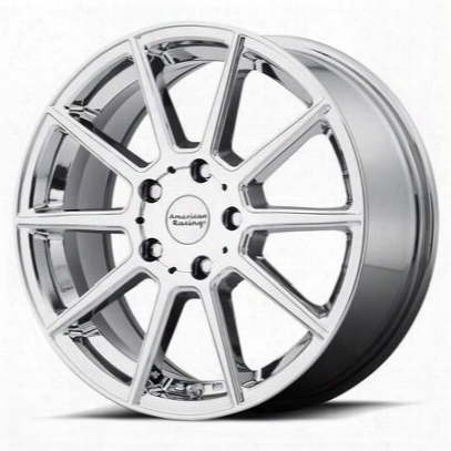 American Racing Ar908, 18x8 Wheel With 5 On 4.5 Bolt Pattern - Chrome - Ar90888012840