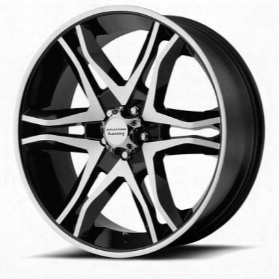 American Racing Mainline, 18x8.5 Wheel With 6 On 5.5 Bolt Pattern - Gloss Black Machined - Ar89388568330