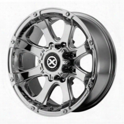 Atx Ax188 Ledge, 17x8 Wheel With 6 On 5.5 Bolt Pattern - Triple Chrome Plated Ax18878060200