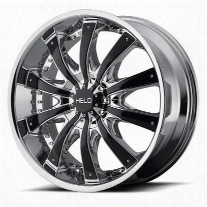 Helo He875, 22x9.5 Wheel With 6 On 5.0 And 6 On 5.5 Bolt Pattern - Chrome With Gloss Black Accents- He87522973238