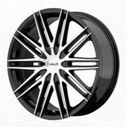 Helo He880, 20x8.5 Wheel With 5 On 115 And 5 On 120 Bolt Pattern - Black- He88028520342