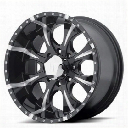 Helo Maxx He791, 17x9 Wheel With 6 On 5.5 Bolt Pattern - Black- He7917960912