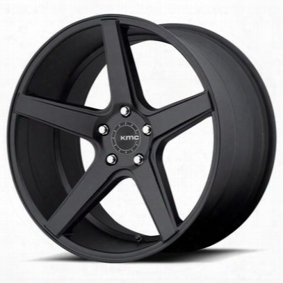 Kmc District Km685, 22x9 Wheel With 5 On 115 Bolt Pattern - Black - Km68522915515