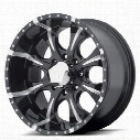 Helo Maxx HE791, 18x9 Wheel with 8 on 6.5 Bolt Pattern - Black- HE7918980912