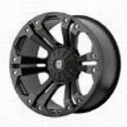 XD Wheels Monster, 18x9 with 5 on 4.5 and 5 and 5 Bolt Pattern - Black-XD77889054718