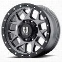 XD Wheels XD127 Bully, 17x8.5 with 8 on 170 Bolt Pattern - Gray-XD12778587400