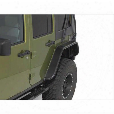Warrior Rear Wider Tube Fender Flares (black) - S7316
