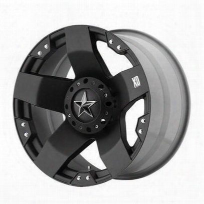 Xd Wheels Xd775 Rockstar, 20x8.5 With 6 On 135 And 6 On 5.5 Bolt Pattern - Dually Matte Black Front-xd77528566535