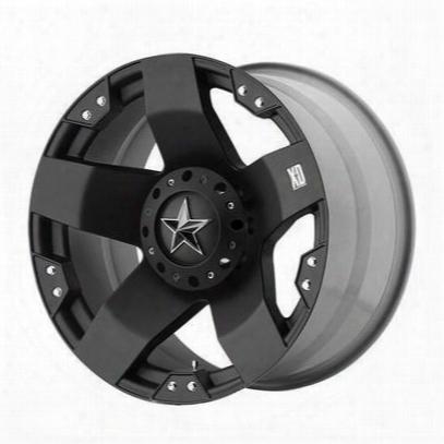 Xd Wheels Xd775 Rockstar, 22x9.5 With 8 On 6.5 Bolt Pattern - Matte Black-xd77522980312