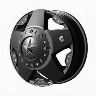 Xd Wheels Xd775 Rockstar Dually, 17x6 With 8 On 200 Bolt Pattern - Matte Black-xd77576082794n