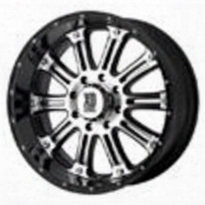 Xd Wheels Xd795 Hoss, 16x8 With 8 On 6.5 Bolt Pattern - Gloss Black With Machined Face-xd79568080800