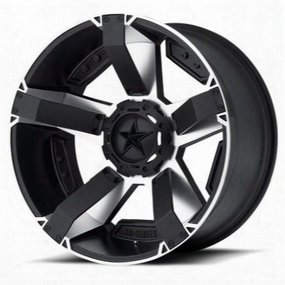 Xd Wheels Xd811 Rockstar Ii, 20x9 With 8 On 6.5 Bolt Pattern - Machined Face With Black Accents-xd81129080512n