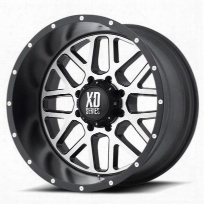Xd Wheels Xd820 Grenade, 22x10 With 8 On 170 Bolt Pattern - Black-xd82022087524n