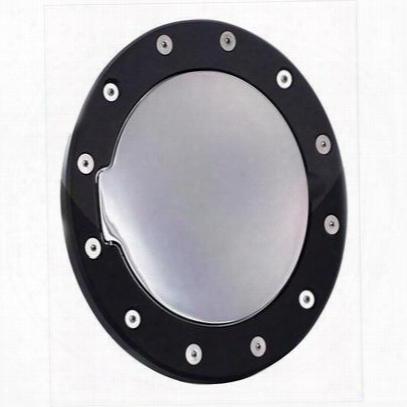 Ami Billet Fuel Door (black/chrome) - 6031gkc