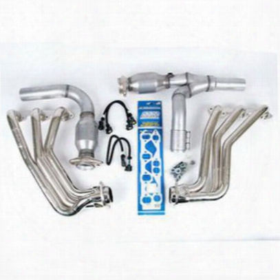 Bbk Performance Full Length Performance Header (chrome) - 4050