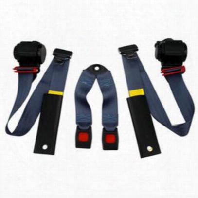 Beams Rear 3-point Shoulder Harness Seat Belts In Blue - Jpyj9295rkt-42